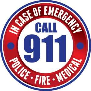 911 seal in blue and red