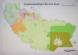 communications services area map