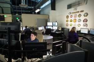 view of the dispatch working stations