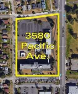 Aerial image of 3580 Pacific Ave.